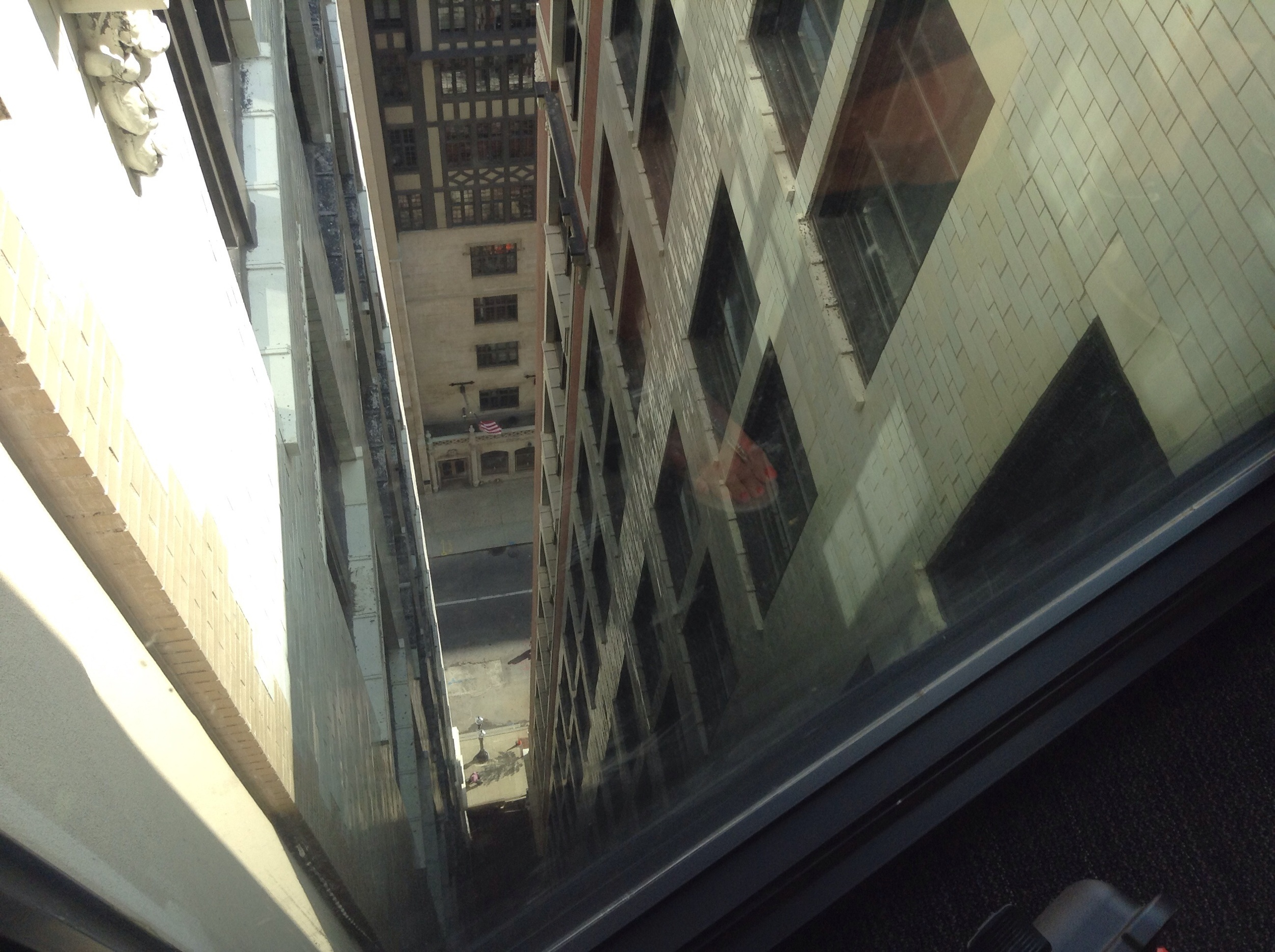 Bridge on the 16th floor, connecting the two buildings