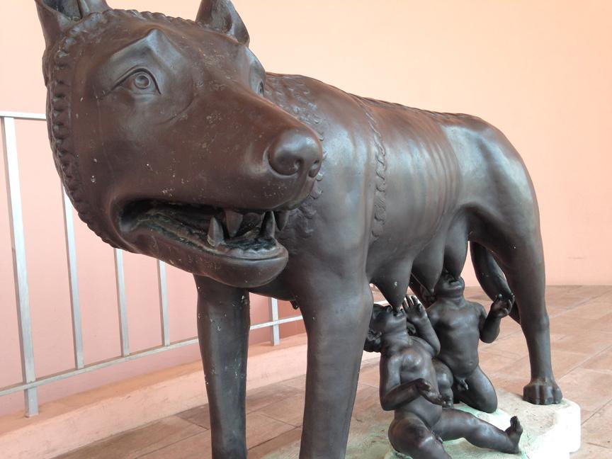 Romulus and Remus.