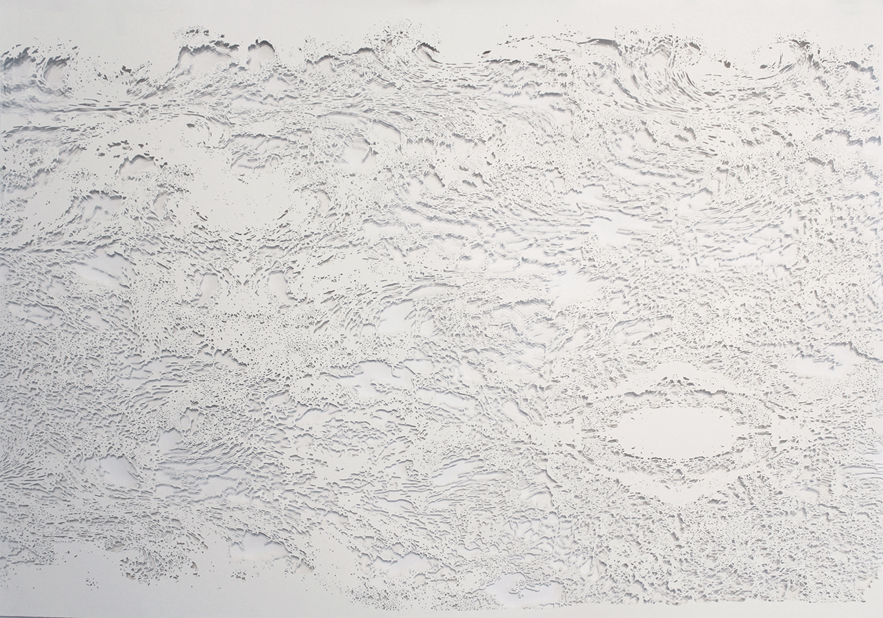 Sure-Lock , 2015, 29 x 42 inches, cut paper