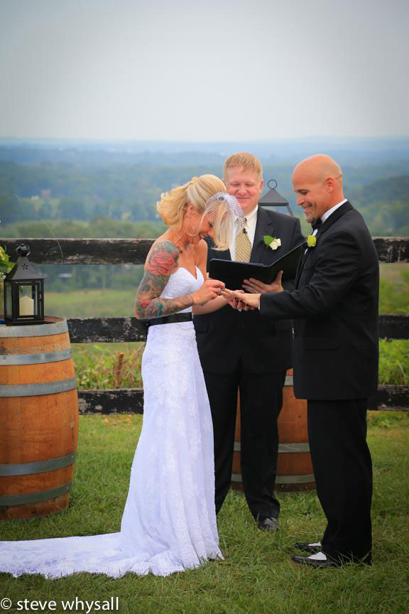Bluemont Vineyard Wedding Ceremony