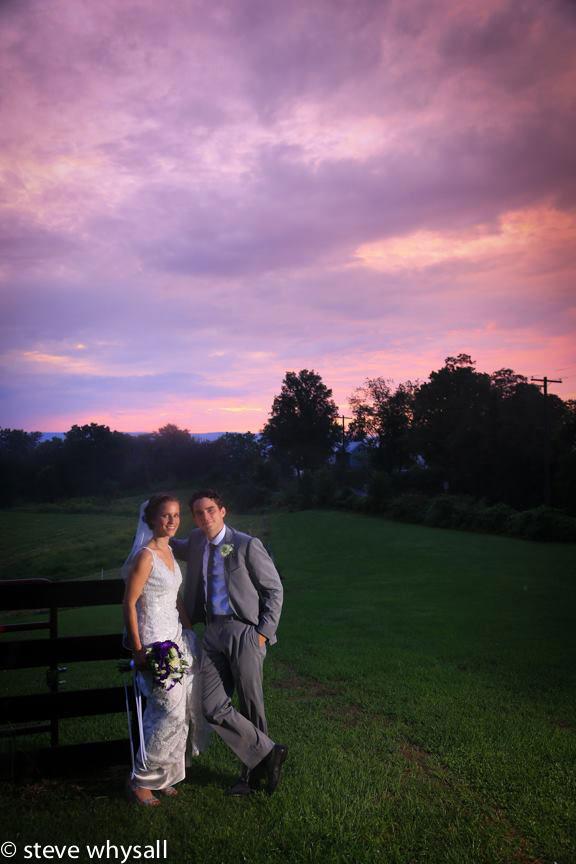 Virginia Farm Ceremony Bride and Groom