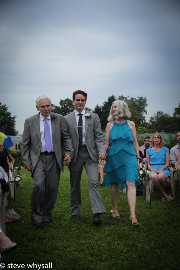 Virginia Farm Wedding Groom Walking To Ceremony