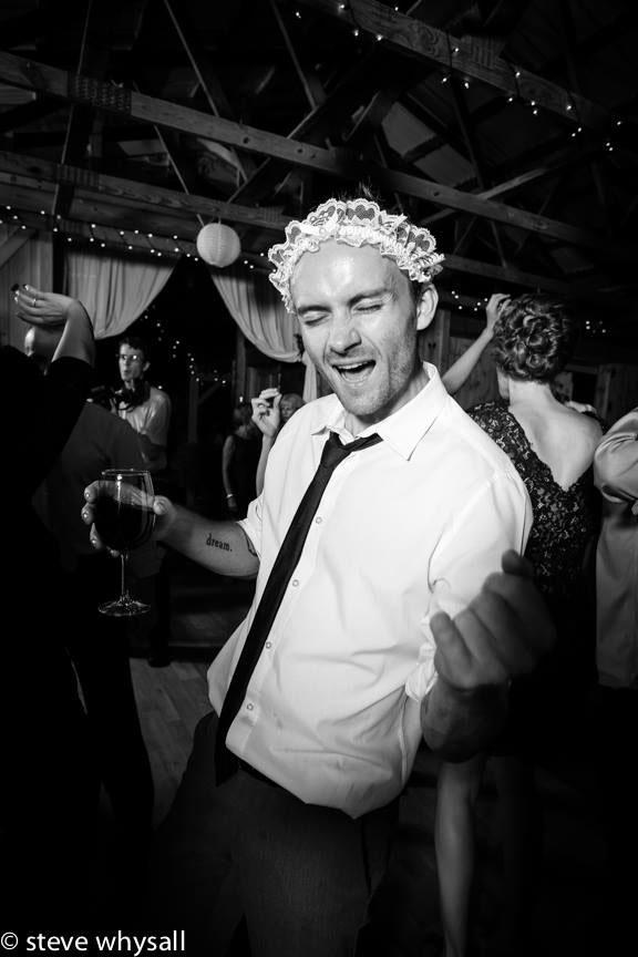 Virginia Farm Wedding Reception Dancing Goofy