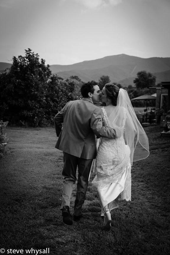 Virginia Farm Wedding Bride Groom Walking