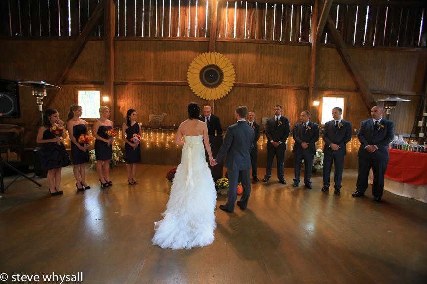Weather Lea Farm Wedding Reception In BArn
