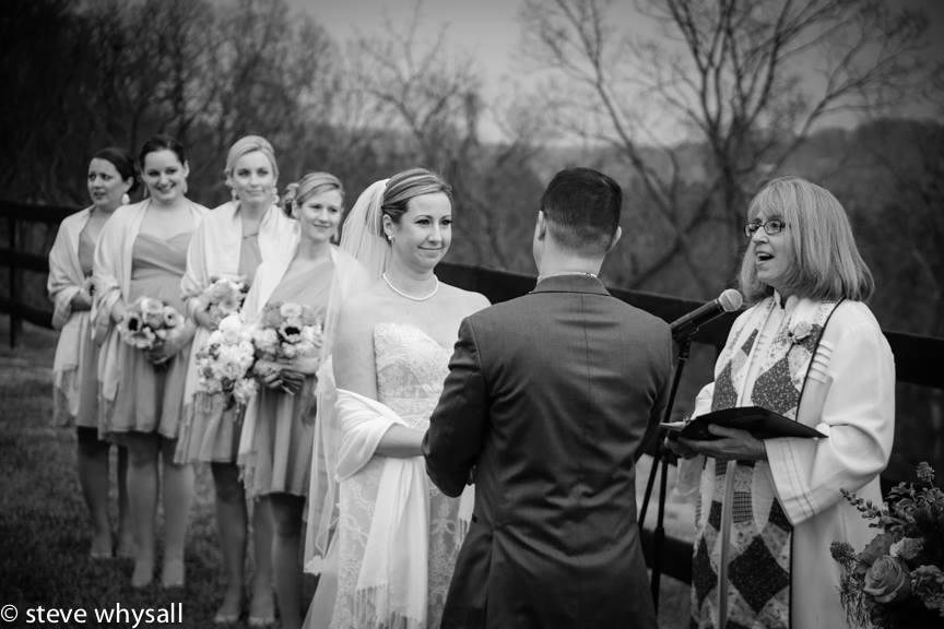 Wedding Ceremony Bluemont Vineyard