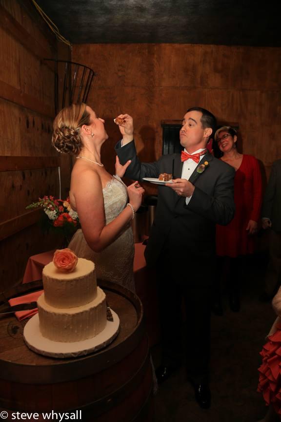 Bluemont Vineyard Bride Groom and Cake