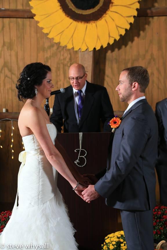Weather Lea Farm Wedding Ceremony
