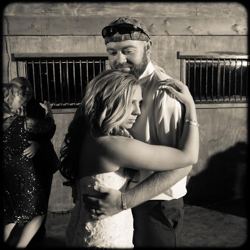 Bluemont Vineyard Bride and Groom Dancing at Wedding Reception
