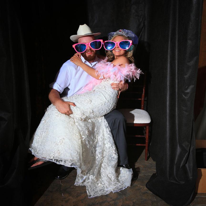 Bluemont VIneyard Bride and Groom at Wedding Reception