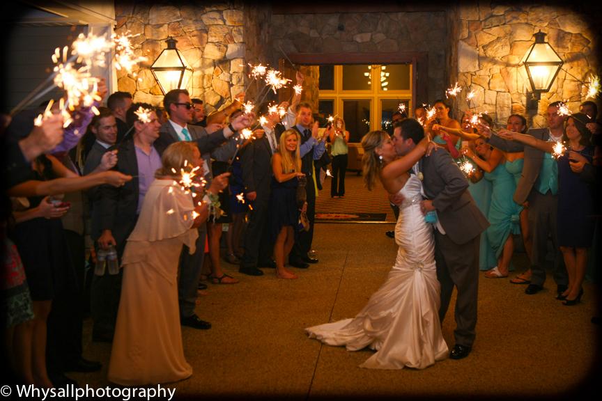 bull run wedding sparklers photo