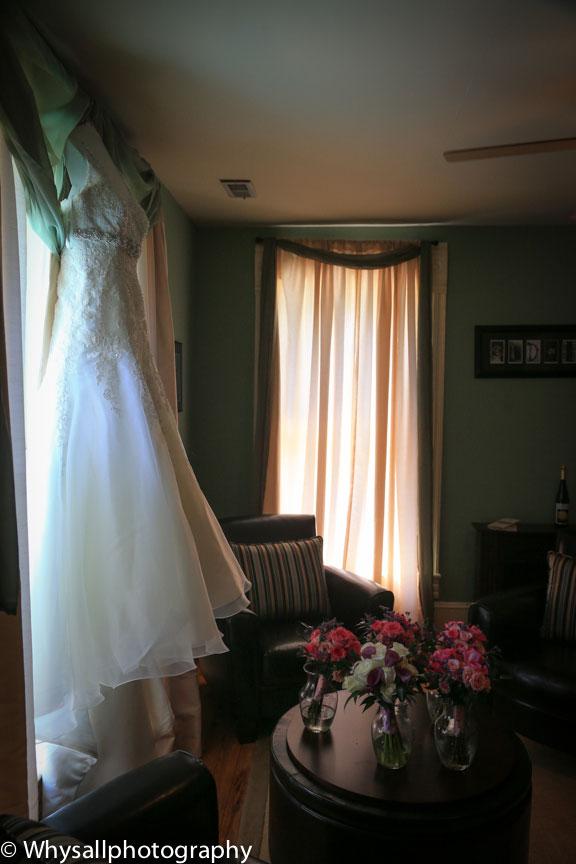 old house vineyards wedding dress photo