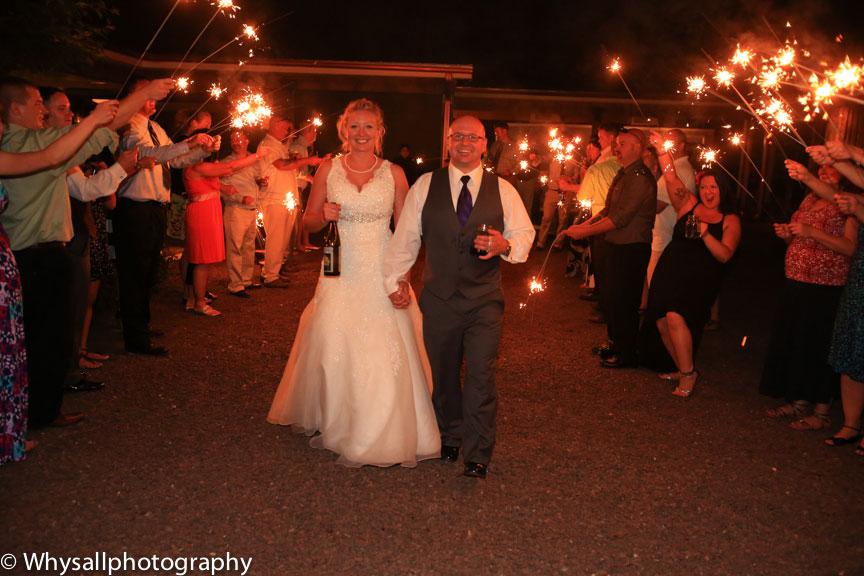 old house vineyards wedding sparklers photo