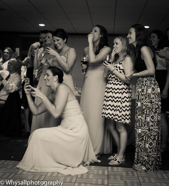 bull run wedding reception photo