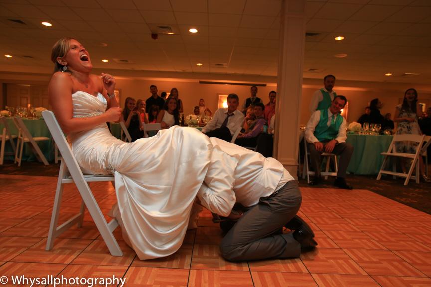 bull run wedding reception