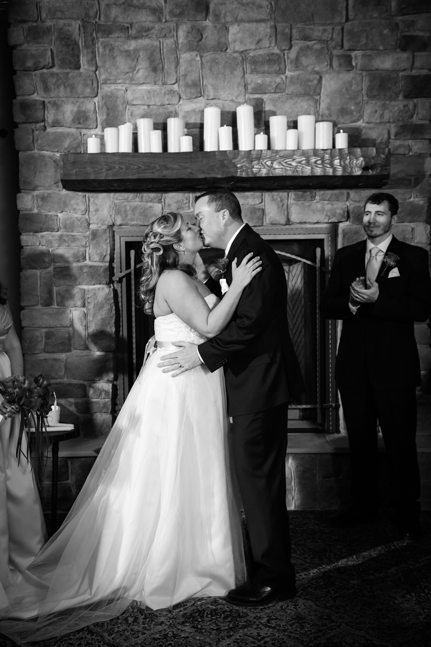 Wedding Ceremony Photo Black and White 8 Chains North Winery