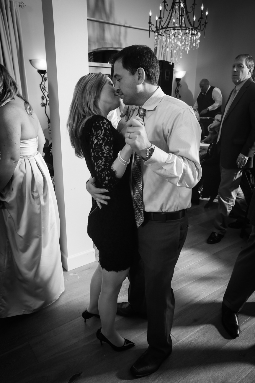Wedding Reception Dancing Photo Black and White 8 Chains North Winery