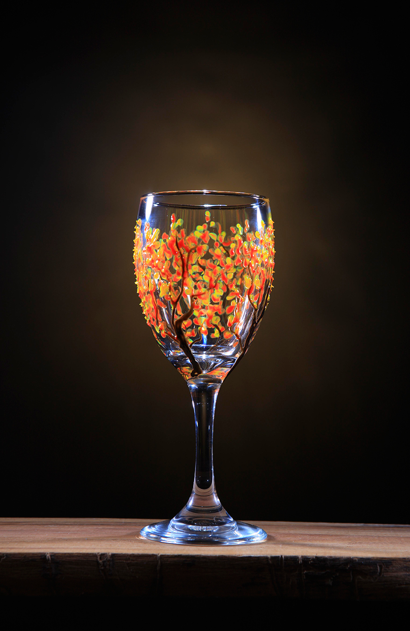 Product photo orange glass