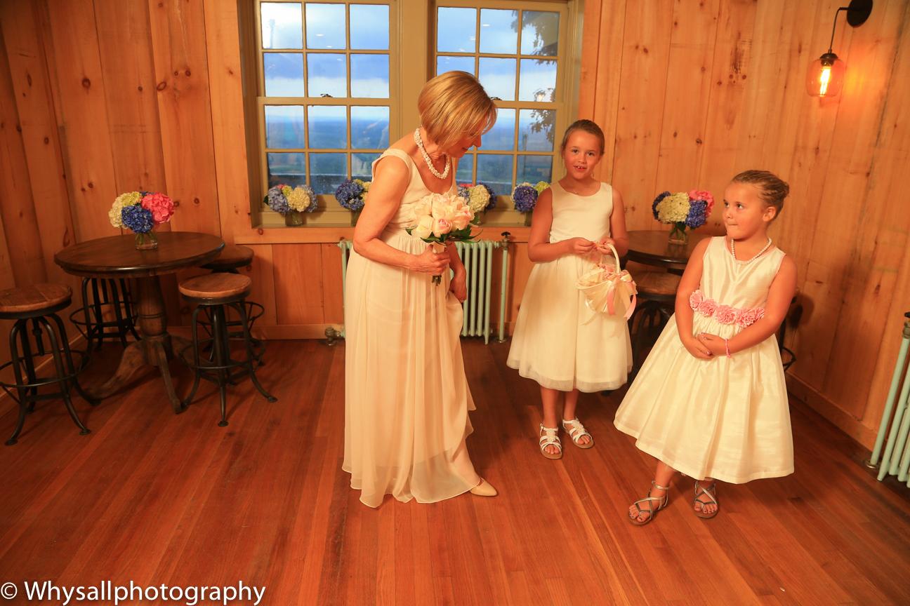 Bride and Flower Girls Bluemont Brewery