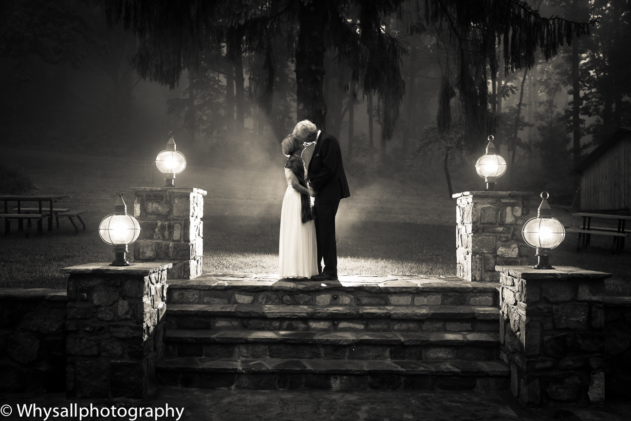 Bride and Groom Black and White Photo Bluemont Brewery