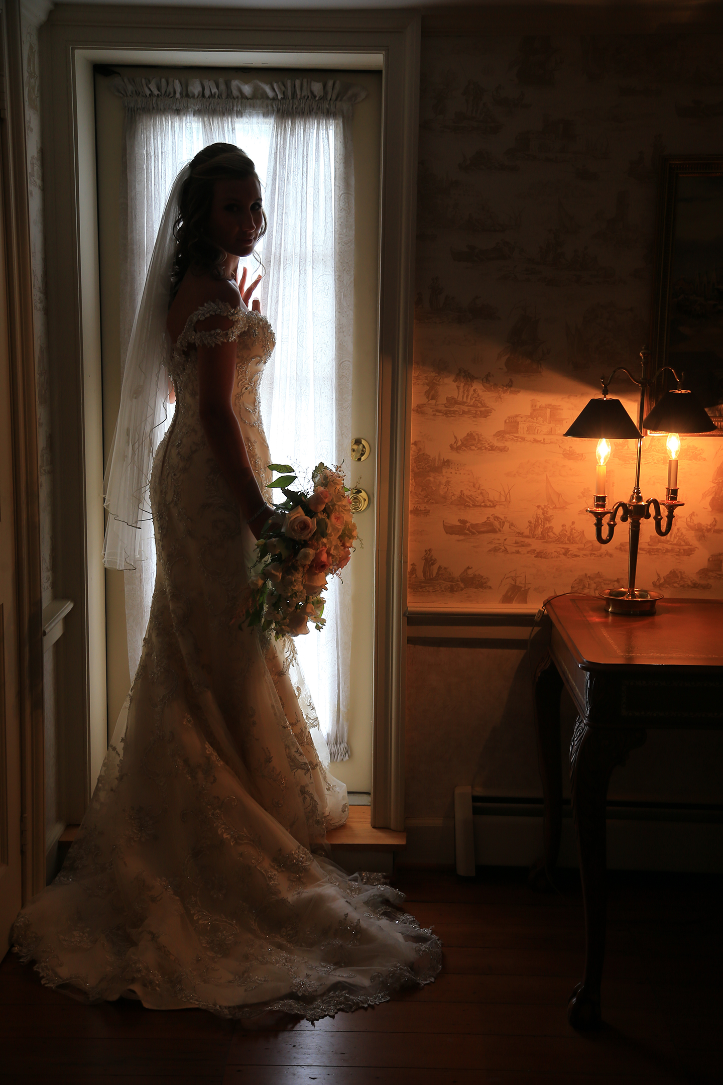 Bride Silhouette Chesapeake City MD | Frederick Maryland Wedding Photographer