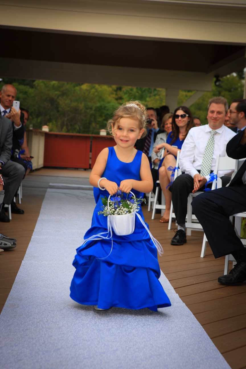Flower Girl Walking Wedding Ceremony Cana Vineyards