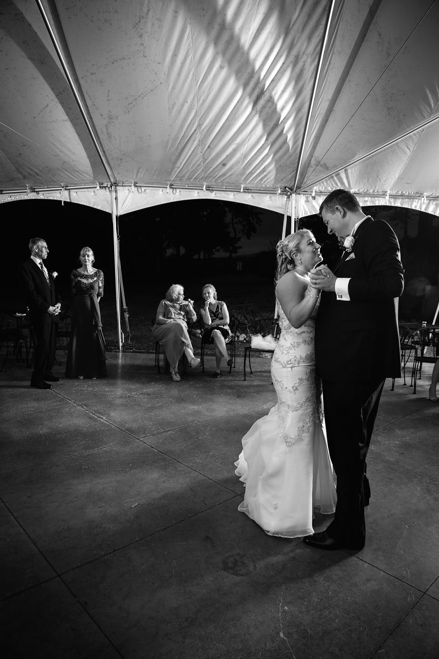Bride and Groom Dancing Cana Vineyards