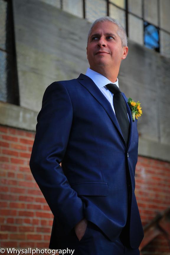 groom photo industrial wedding baltimore md