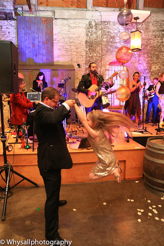 dancing photo industrial wedding baltimore md