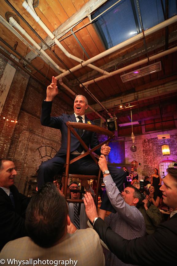 chair high groom industrial wedding baltimore md