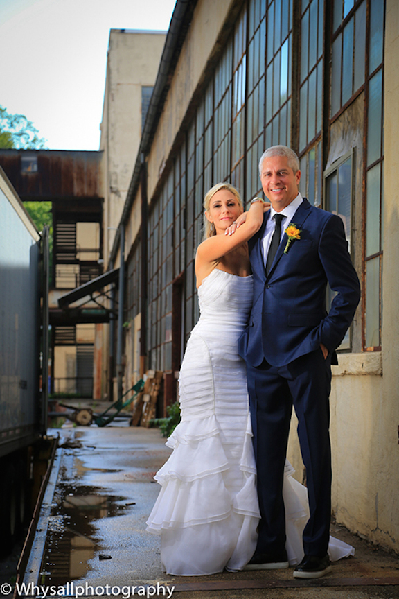 bride and groom industrial wedding baltimore md
