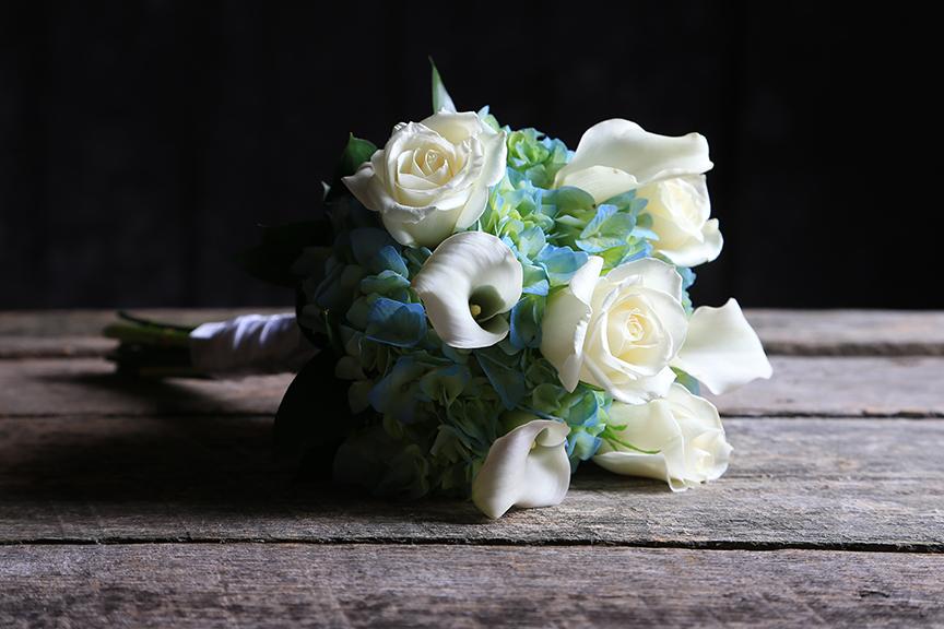 wedding bouquet shot in photo studio