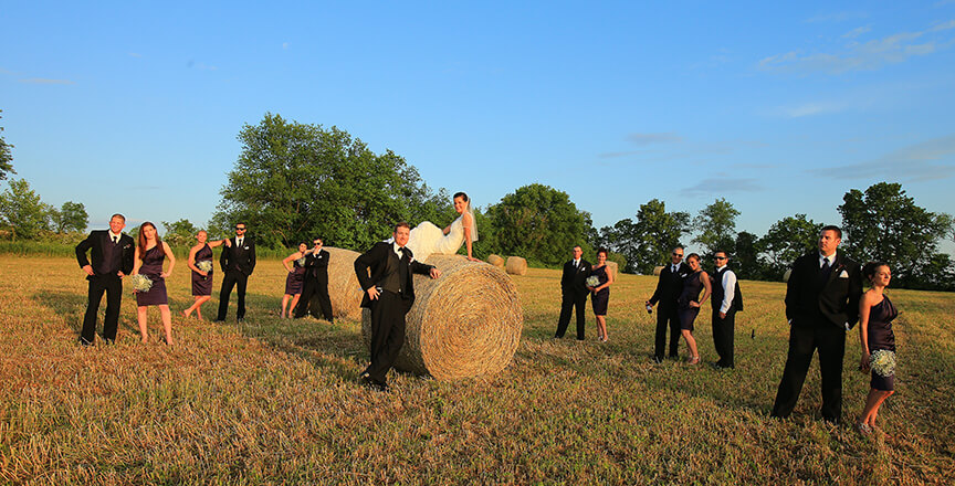 Fine Art or Artistic Wedding Style Wedding Party Posed artistically