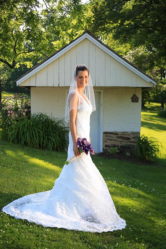 Wedding Portrait With Lighting