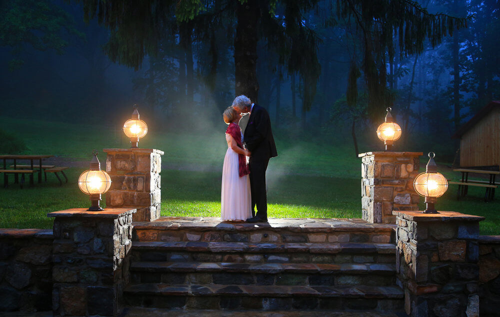 Fine Art Wedding Style Bride and Groom with edgy, dramatic lighting