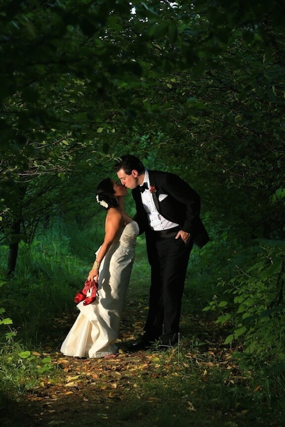 Editorial photo of bride and groom