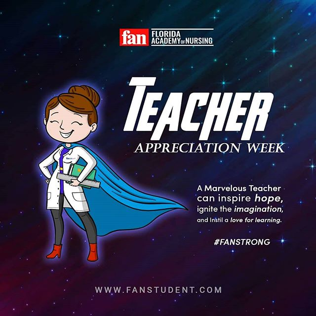 Our Faculty truly is marvelous and extraordinary.  They are the heart and soul of FAN.  We truly appreciate your continued dedication and passion for educating nurses, that will be in a league of their own.  #thankyou #teacherappreciationweek #fanstrong  www.fanstudent.com