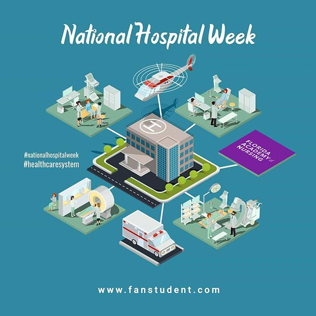 """May 12th - 18th is National Hosptial Week!  We love our nurses and we appreciate and recognize their role in the healthcare system, after all, they are the """"Heart of Healthcare"""". We would like to extend our appreciation to all individuals involved in the healthcare system, without them, it would be impossible for our Healers to perform their jobs.  THANK YOU! #becuasetheworldneedsmorehealers.  Celebrating National Hospital Week provides an opportunity to thank all of the dedicated team members that make up the healthcare system: physicians, nurses, therapists, engineers, food service workers, volunteers, administrators and so many more  #hospitalweek #healthcare #nationalhospitalweek  Source: https://www.aha.org/ahia/get-involved/national-hospital-week  www.fanstudent.com"""