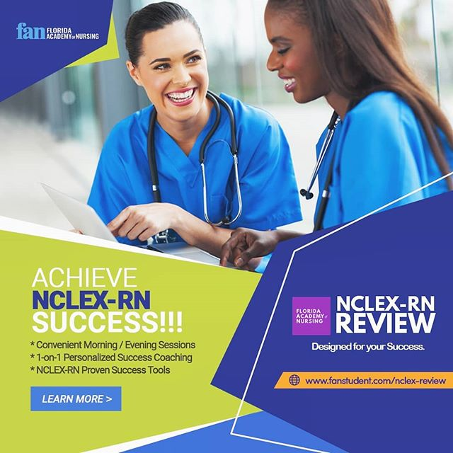 FAN's comprehensive NCLEX-RN Review Program is now available with flexible sessions at your convenience.  Morning Session: Starts Oct 22 Evening Session: Starts Oct 21  Limited seating, and space is going fast.  More information at www.fanstudent.com/nclex-review  #becausetheworldneedsmorehealers