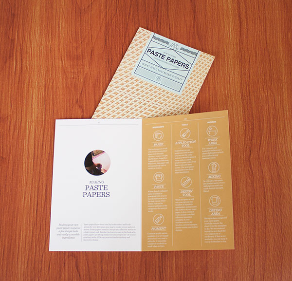 Making Paste Papers brochure designed by Smith & Co. Creative for Mohawk Fine Papers