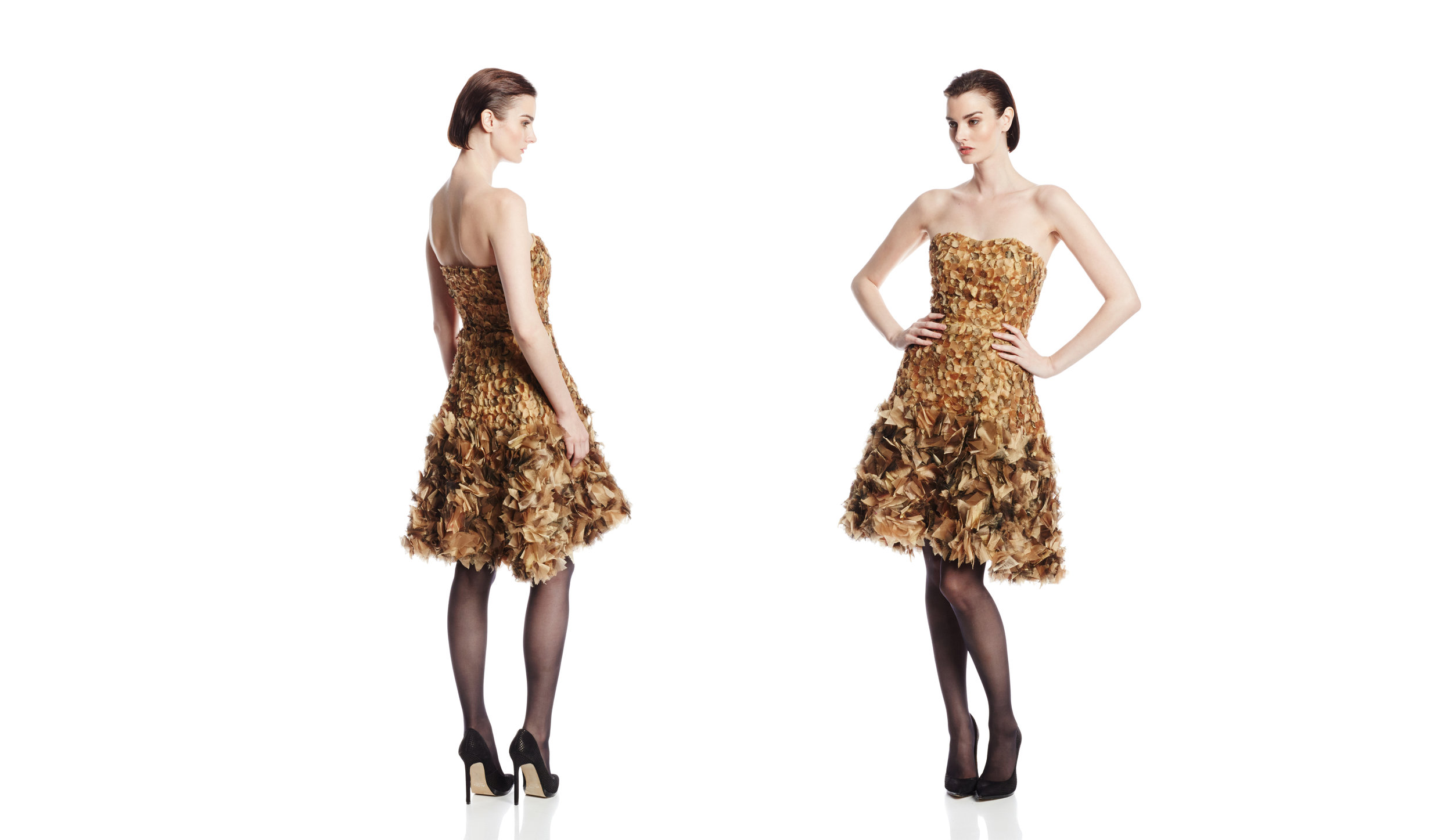 Gold Strapless Cocktail Dress.jpg