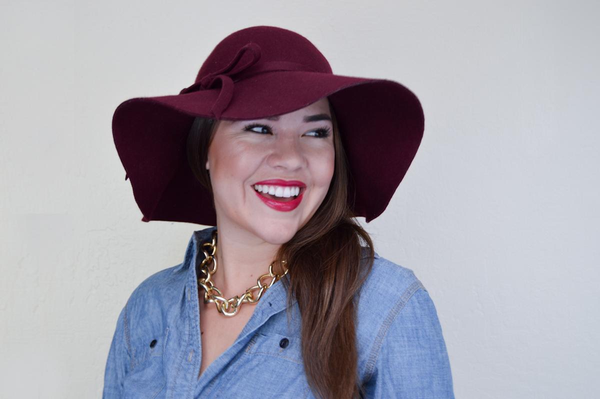 Floppy Hat, Chambray & Tulle skirt