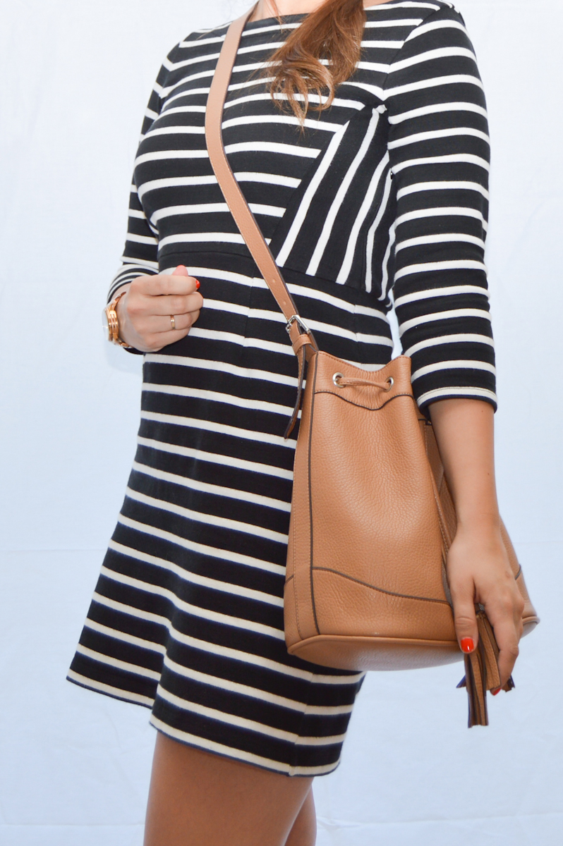 Striped  & Bucket Bag via. Birdie Shoots Lookbook