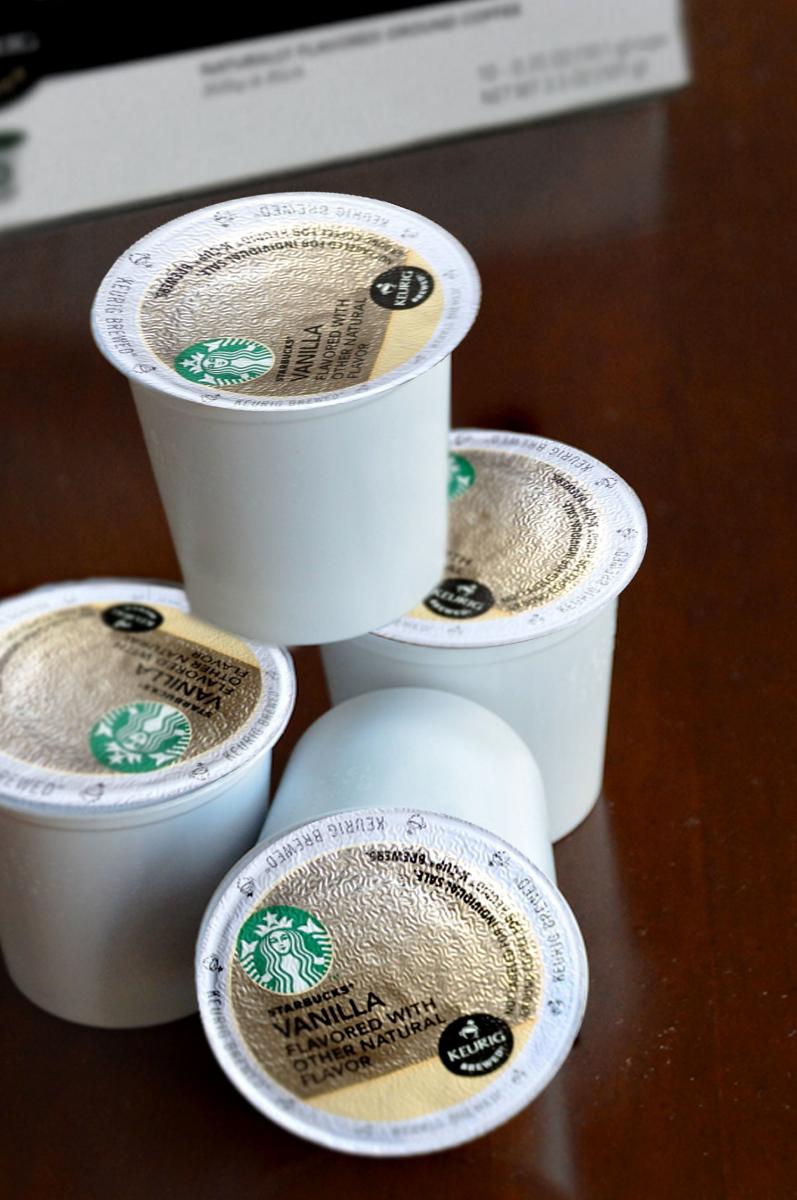 Starbucks Vanilla Flavored K-Cup Packs via. Birdie Shoots