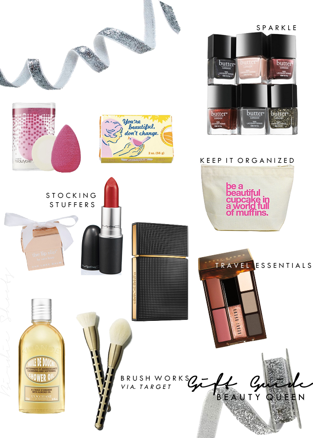 GIFT GUIDE FOR THE BEAUTY QUEEN  via. Birdie Shoots
