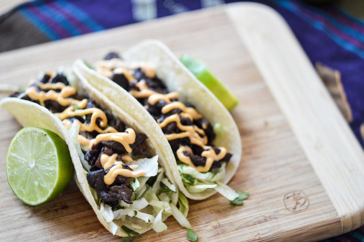 Korean Beef Tacos via. Birdie Shoots