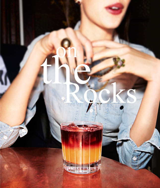 On the rocks  NEW YORK SOUR via. Birdie Shoots