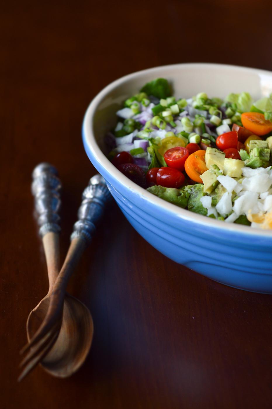 Chopped Salad Recipe via. Birdie Shoots