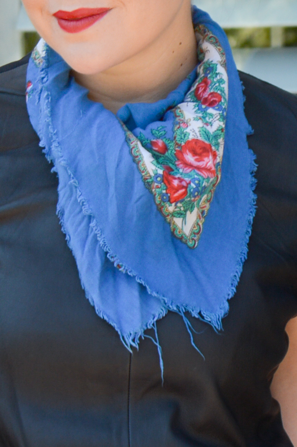 How to Style a Spring Scarf via. Birdie Shoots