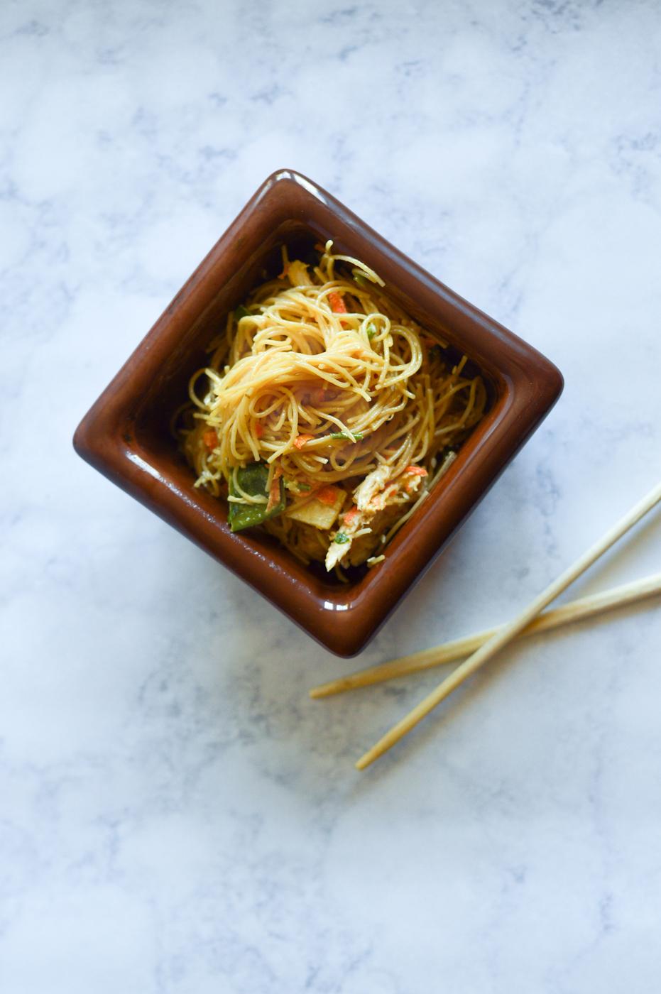 Asian Pasta Salad via. Birdie Shoots